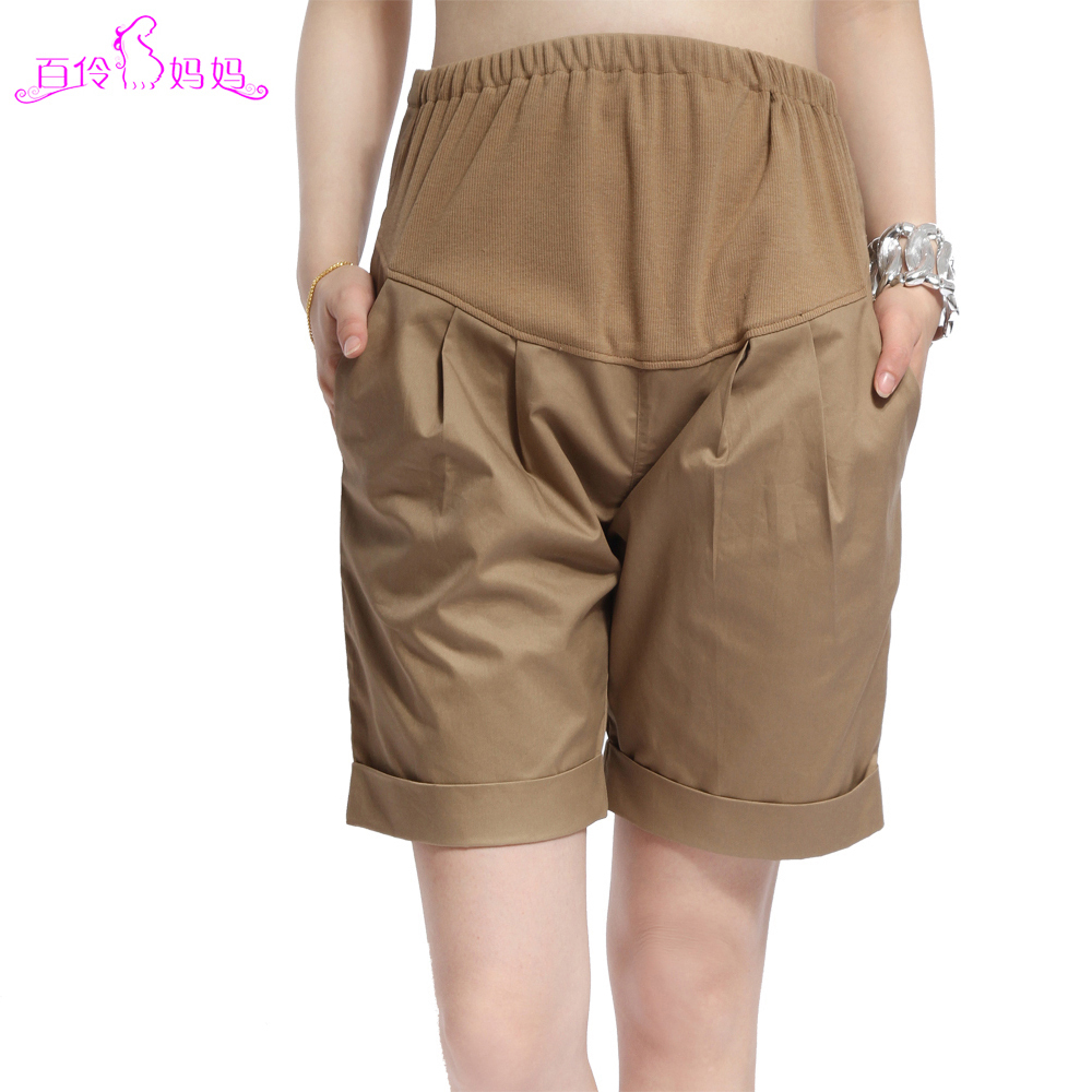 Maternity clothing summer casual all-match 100% cotton maternity pants maternity shorts knee-length pants