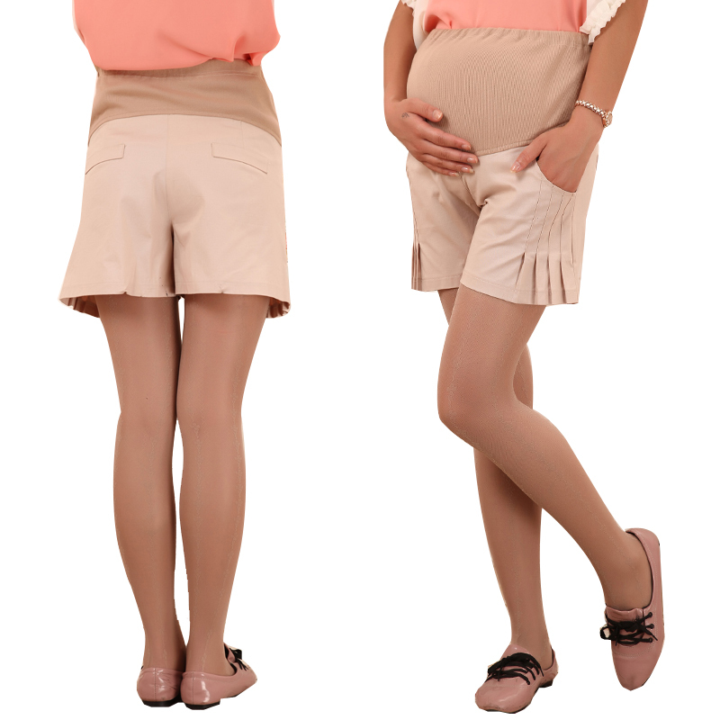 Maternity clothing summer fashion maternity belly pants maternity pants shorts maternity 100% cotton boot cut