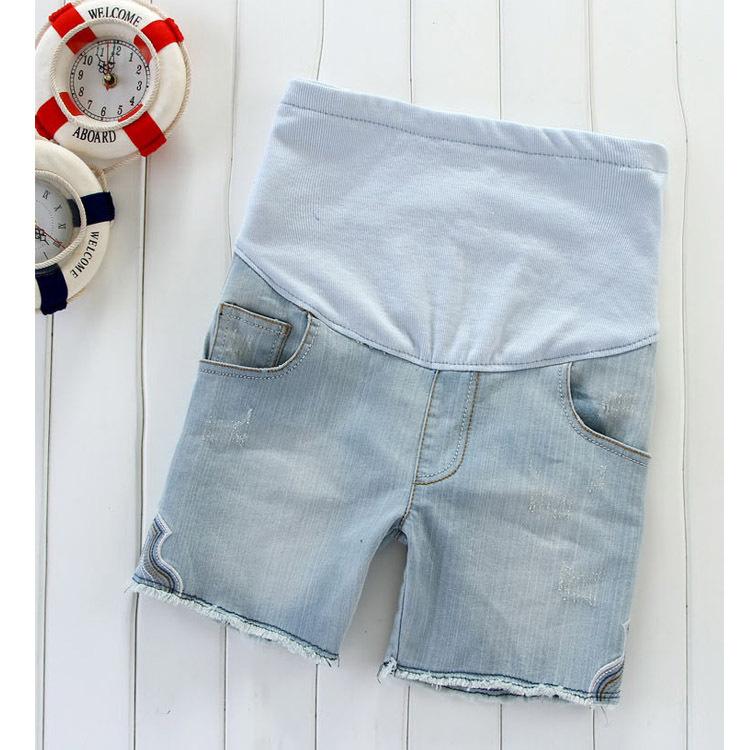 Maternity clothing summer fashion maternity pants maternity denim shorts belly pants