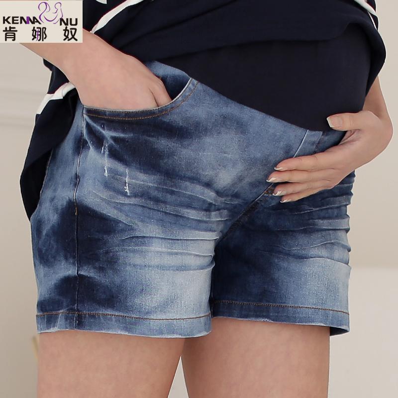 Maternity clothing summer fashionable denim maternity short trousers maternity pants 3605