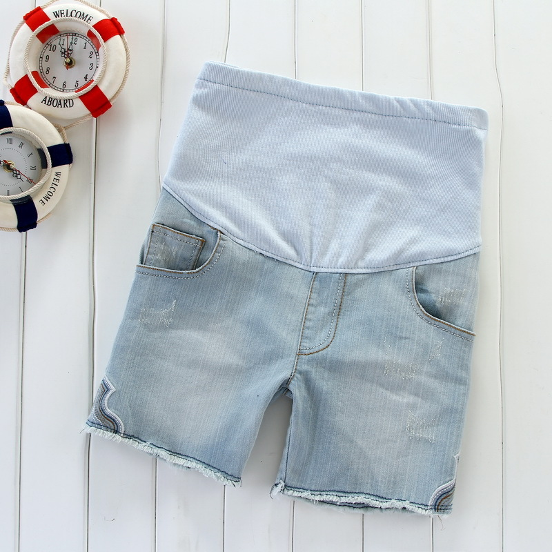 Maternity clothing summer maternity pants maternity shorts maternity denim shorts belly pants
