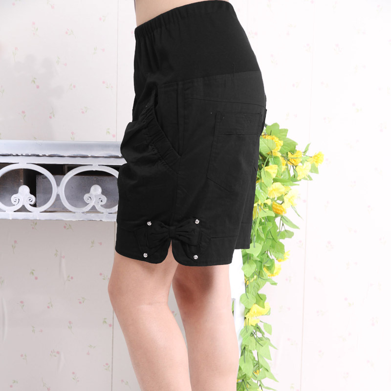 Maternity clothing summer maternity shorts fashion trouser inlaying 2a0255 bow belt