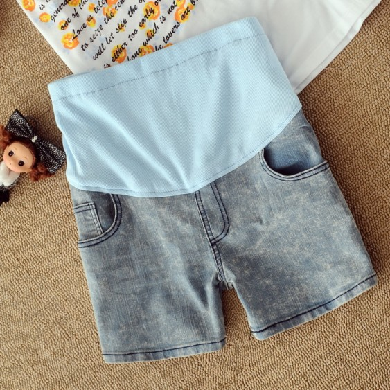 Maternity clothing trousers 2013 summer maternity pants maternity shorts denim shorts maternity belly pants
