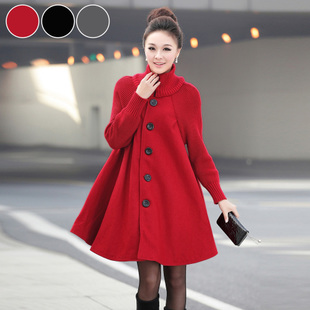 Maternity clothing winter plus size maternity outerwear loose long design maternity wool coat outerwear
