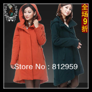 Maternity cotton-padded jacket autumn and winter thickening plus size medium-long 100% cotton down coat
