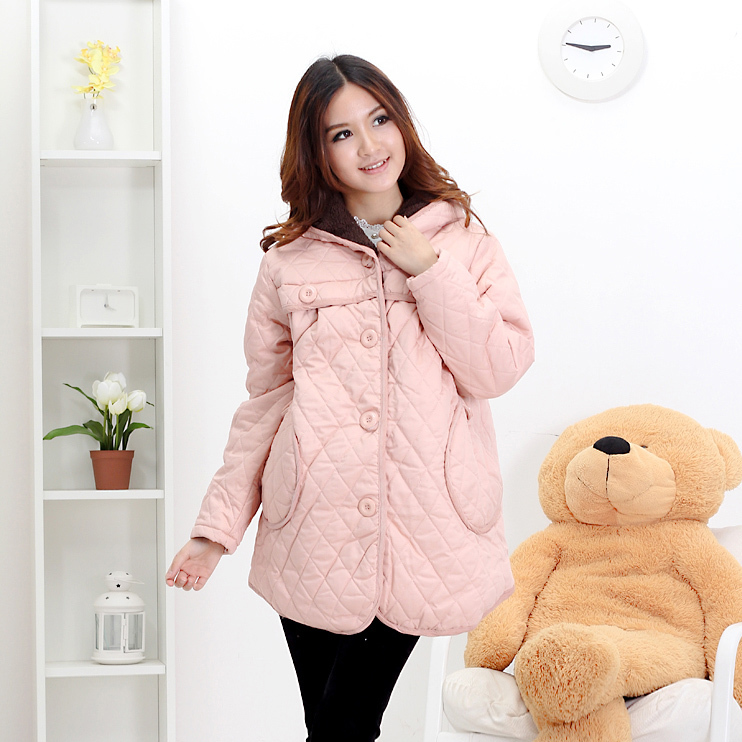 Maternity cotton-padded jacket fashion maternity clothing winter crimping thickening maternity outerwear 101