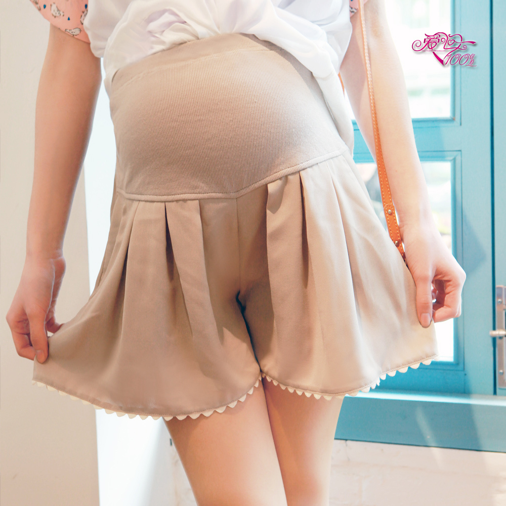 Maternity dress maternity clothing spring chiffon laciness pants maternity dress maternity pants shorts k8025