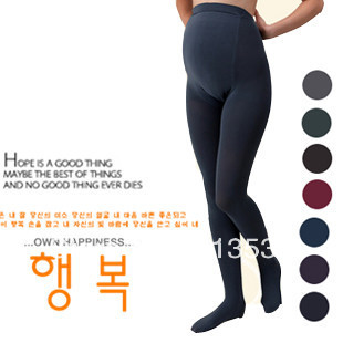 Maternity pants autumn and winter candy color maternity legging thickening maternity pantyhose stockings w001