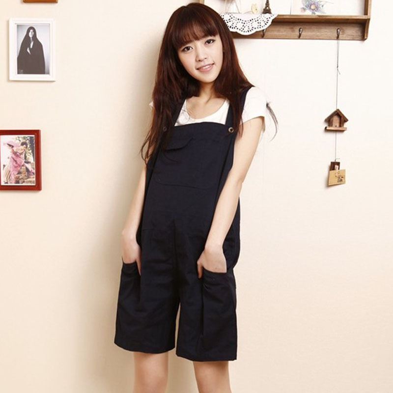 Maternity suspenders shorts phalanger 2013 maternity clothing maternity pants plus size fashion shorts