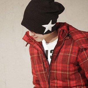 Men's Crochet Star Beanie Hat Skull Cap Ski Knit WINTER NEW 4 Colors Free Shipping