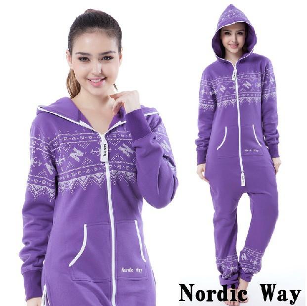 Mens Womens Ladies Unisex Purple Print Zip Up Onesie All In One Jumpsuit Playsuit