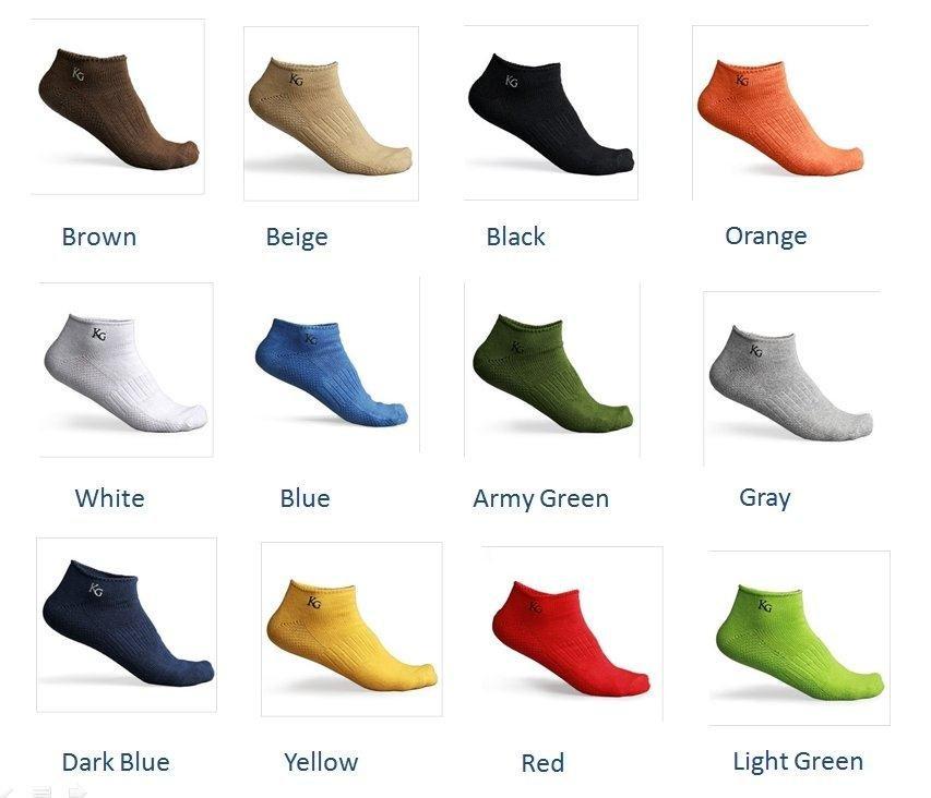 Mens Womens Unisex Low Cut Ankle Cotton Sport socks 12 color Men's Lady Women's  KS-04