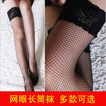 Mesh stockings high fishnet stockings over-the-knee lace decoration split socks spaghetti strap fishnet stockings