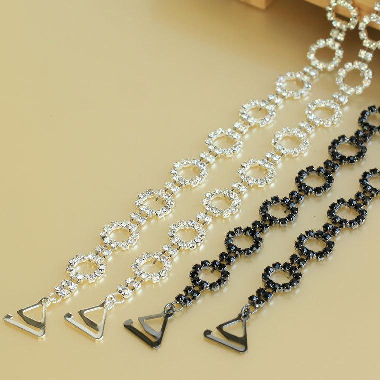 Metal diamond shoulder strap rhinestone shoulder strap rhinestone underwear pectoral girdle circlers double shoulder strap