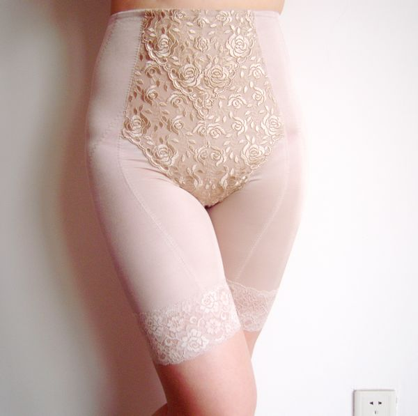 Mid waist abdomen basic drawing plus size body shaping pants slimming corset pants beauty care female panties
