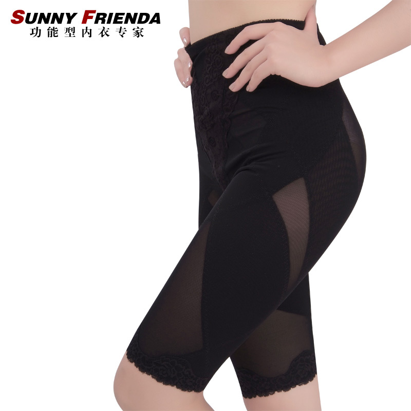 Mid waist abdomen drawing butt-lifting x pants corset pants slimming pants body shaping pants 2665