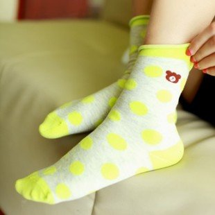 Min Order $10(mixed order)Lovely autumn cotton socks  Winnie wave little lady socks WHOLESALE FREE SHIPPING