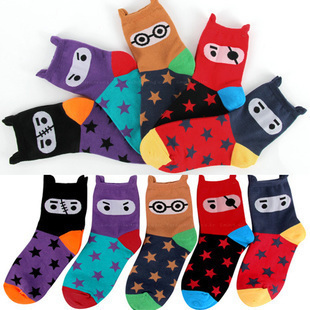 Min Order $10(mixed order) Lovely creative stereo pirate star cotton socks,women socks free shipping wholesale