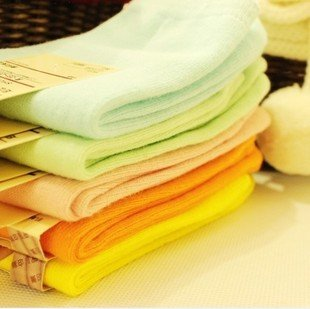 Min Order $10(mixed order) Retail  Cute good plain pure cotton socks,  candy color