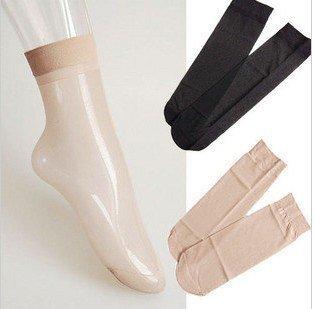 Min Order $20 (mixed order) Retail 10 pair/lot Fashion Womens Nylon Silk Stockings / Multi-Color Short Silk Socks  (SM-19)