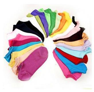 Min Order $20 (mixed order) Retail Coloful Cotton Unisex Casual Short Socks / Fashion No Show  (SM-05)