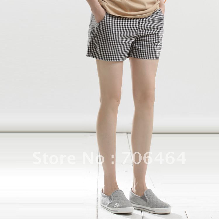 Minimum 3 pcs mixed acceptable Fluid casual loose plus size all-match fine plaid shorts sqk609