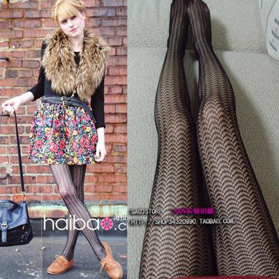 MIX-ORDER 10USD 2013 Vintage Wave Fishnet Yarn Tights For Women Sexy Black Ladies Stocking Legging Socks pantyhose #P0025-380