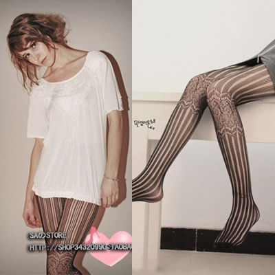 MIX-ORDER 10USD Double  Fashion Fishnet Stockings street pantyhose jacquard fishnet Tight for Women Free Shipping #P0015-092