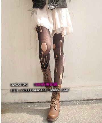 MIX-ORDER 10USD Fashion Holes socks and tights Vintage Women's Pantyhose Fishnet Stylish Party and Street Stocking#P0029-984