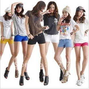 Mix order Best Selling Women's Colorful Candy Pencil short Pant/Hot Pant  Free shipping 10 Colors hot cotton short S/M/L/XL