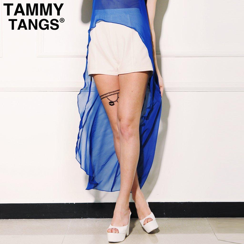 Mixtips 2012 summer high waist white fashion vintage basic casual pants shorts female