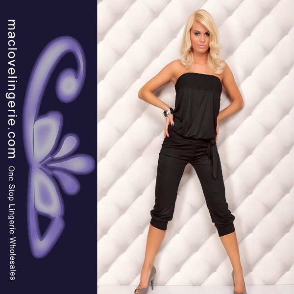 ML17554 Free Shipping 2012 New Style Ladies Sexy Blouse Jumpsuit Women's Romper Overall Harem Pants Jumpsuit Black