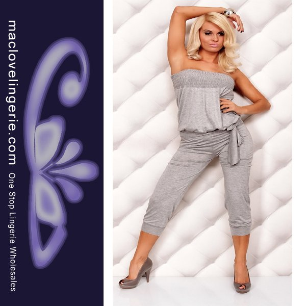 ML17555 Free Shipping 2012 New Style Grey Ladies Blouse Jumpsuit Sexu Romper Overall Harem Pants Jumpsuit