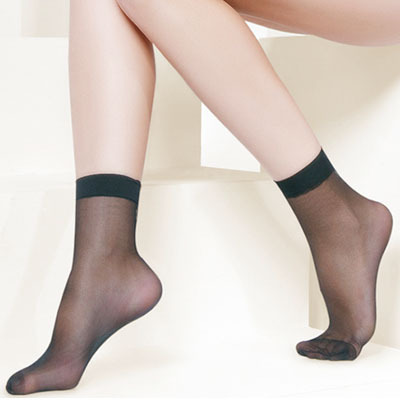 Mona women's ultra-thin transparent Core-spun Yarn sock socks stockings short r3286