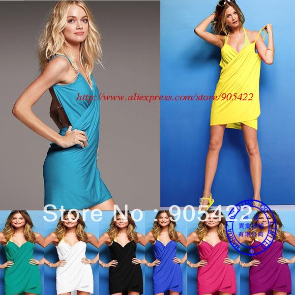 MOQ 1 PCS  free shipping 11 color sexy Swimwear Cover-Up Bikini dress MY01p