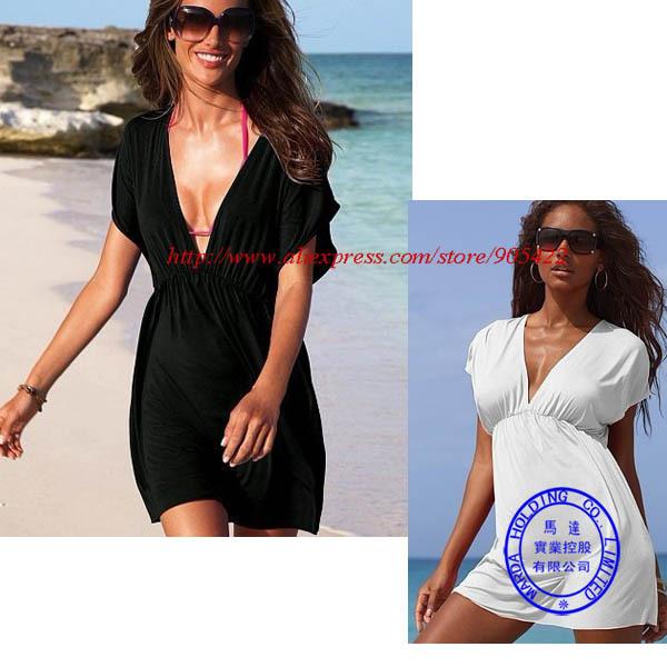 MOQ 1 PCS free shipping 11 color sexy Swimwear Dress Bikini Cover-Up beach dress MY02p
