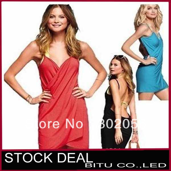 MOQ 1PCS Free shipping 10 color in stock sexy beach bikini dress NZ012p
