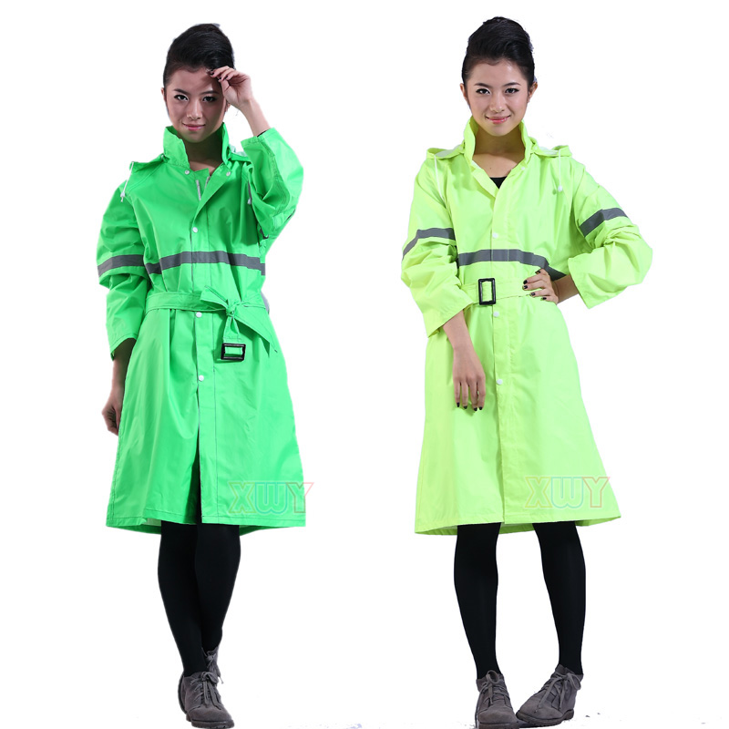 Motorcycle electric bicycle raincoat fashion adult women's casual clothing raincoat 29