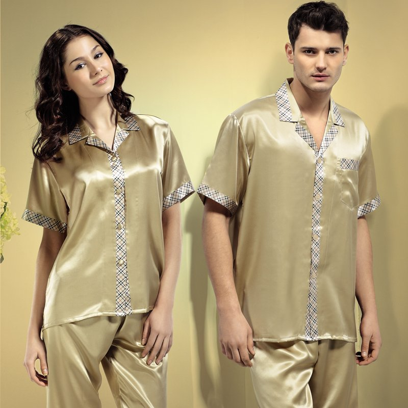 Mulberry silk short-sleeve set summer marry lovers lounge cm11020