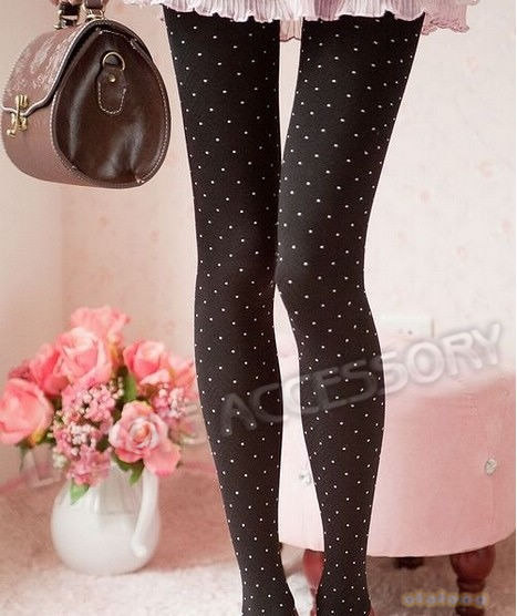 New 1piece/lot 4 Colors New Women 120d Polyester Warm Pants Dot Opaque Pantyhose Stocking Silm Stretch Tights Leggings 650848