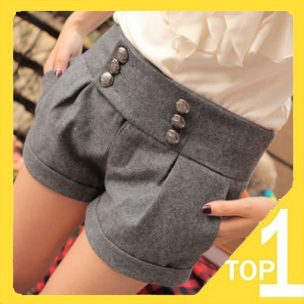 New 2012 Cotton Casual Slim Shorts  trousers Sweet Warm  pants Top Brand Fashion Korean Style