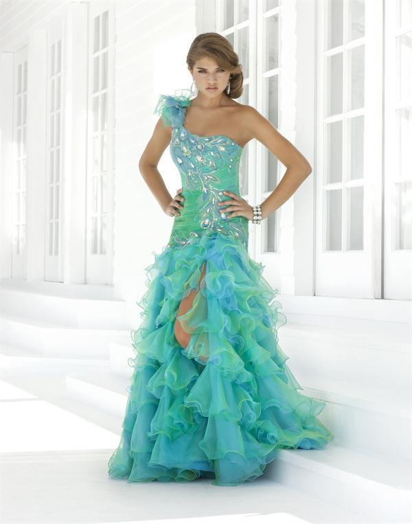 New 2013 Peacock Mermaid Party Prom BALL Pageant Dresses Evening Gowns Custom  FREE SHOPPING 002