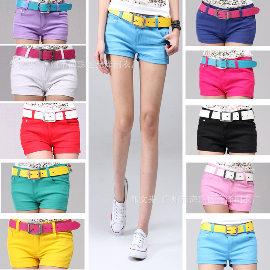 New 2013 summer candy color casual shorts hot short pants plus size cotton