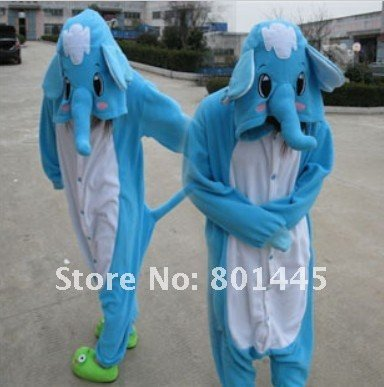 New adult romper nonopnd one piece stretchy sleepers Autumn spring elephant design polar fleece for 105~185cm free shipping