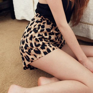New Arrival 2013, Free shipping Fashion And Sexy Leopard Print Women Shorts/Cheap High Waisted Shorts-D9101