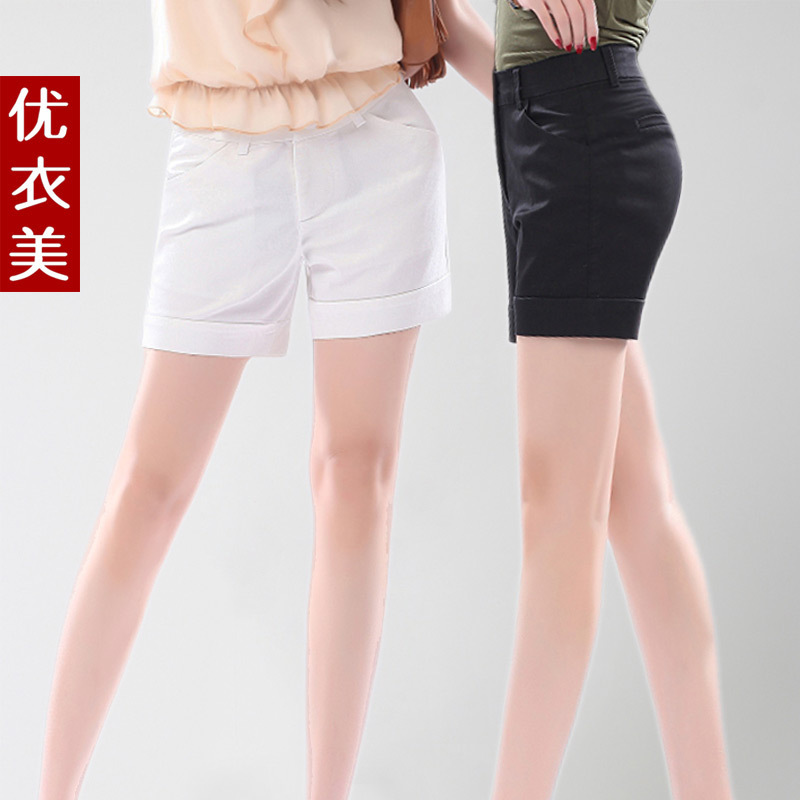 New Arrival Clothing fashion roll-up hem all-match plus size shorts women's casual shorts 2324 free shipping