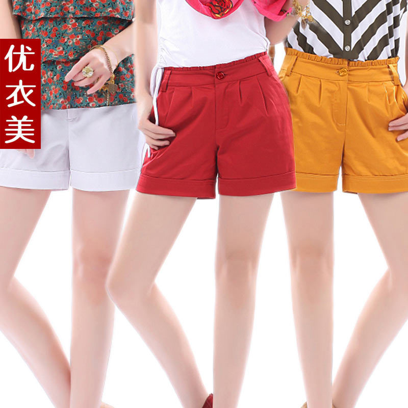 New Arrival Clothing fashion roll-up hem candy color summer plus size shorts summer female casual shorts 2325 free shipping