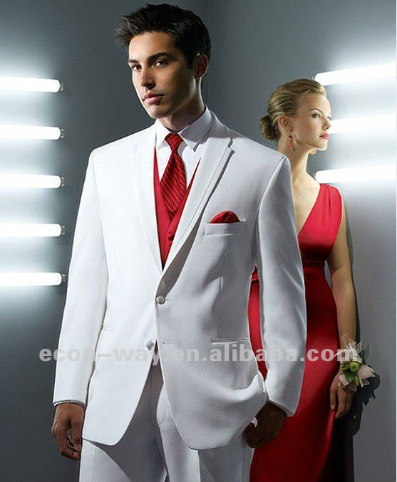 New arrival design white wedding suit