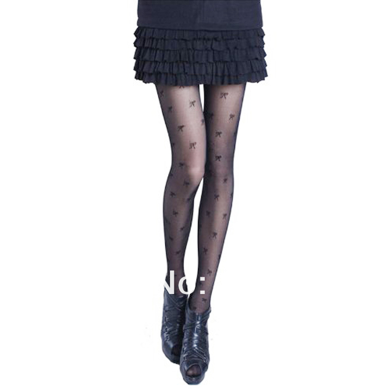 New arrival Fashionable Sexy Ladies'Bowknot Pattern Pantyhose Tights Stockings free shipping Hot