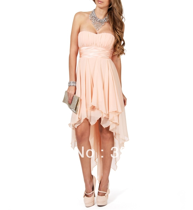 New Arrival Free Shipping Knee Length Chiffon Short Prom Dress